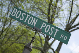 Boston Post Road sign