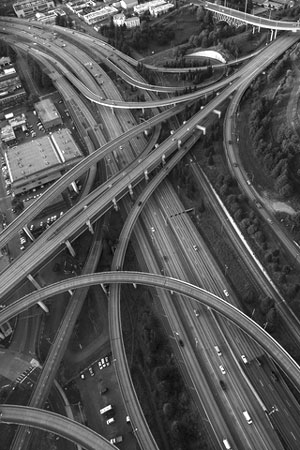 American highway intersection