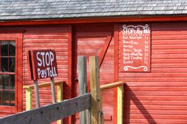 historic toll road tollbooth